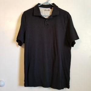 Tasso Elba Black Polo Mens Shirt